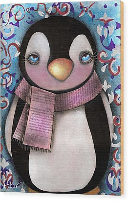 Tuxedo  Wood Print by  Abril Andrade Griffith