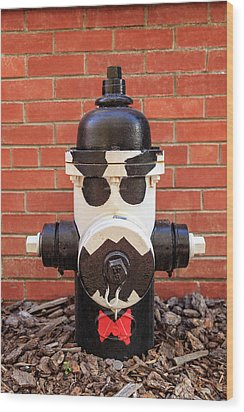Wood Print featuring the photograph Tuxedo Hydrant by James Eddy