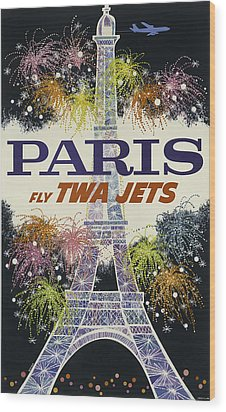Twa Paris Wood Print