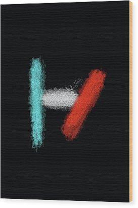 Twenty One Pilots Black Abstract Wood Print