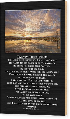 Twenty-third Psalm Prayer Wood Print