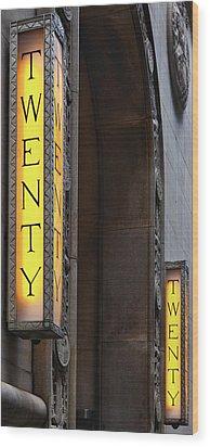 Twenty Twenty Wood Print by Robert Ullmann
