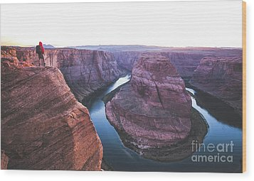 Twilight At Horseshoe Bend Wood Print by JR Photography