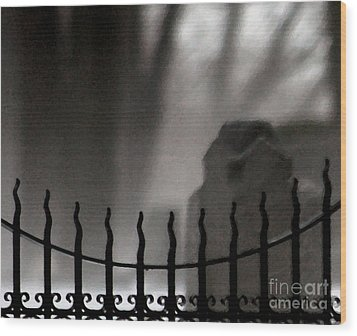 Twilight Beyond Grace Wood Print by Linda Shafer