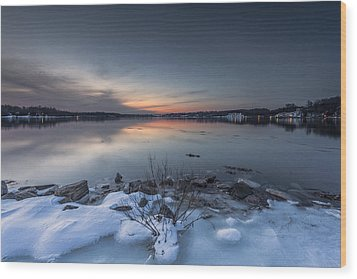 Wood Print featuring the photograph Twilight by Edward Kreis