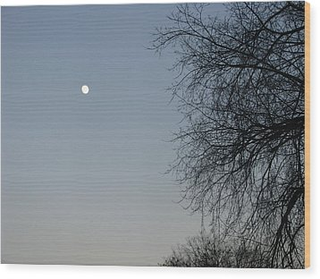 Twilight Wood Print by Hasani Blue
