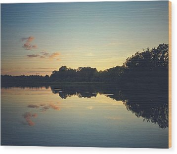 Wood Print featuring the photograph Twilight by Karen Stahlros