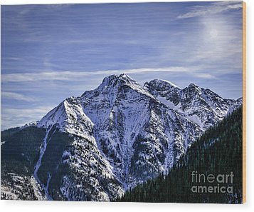 Twilight Peak Colorado Wood Print