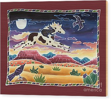 Twilight Ride Wood Print by Harriet Peck Taylor