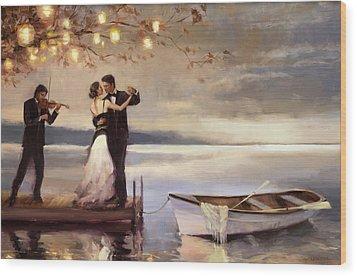 Twilight Romance Wood Print by Steve Henderson