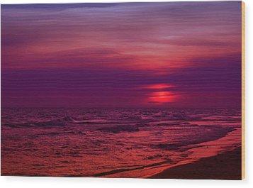 Twilight Wood Print by Sandy Keeton