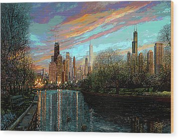 Twilight Serenity II Wood Print by Doug Kreuger