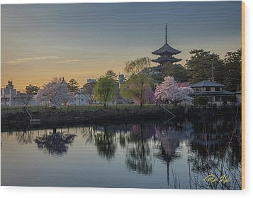 Wood Print featuring the photograph Twilight Temple by Rikk Flohr