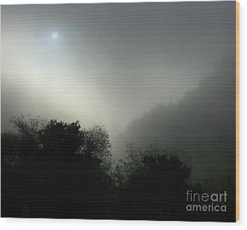 Twilight Valley Of The Moon California Wood Print by Gus McCrea