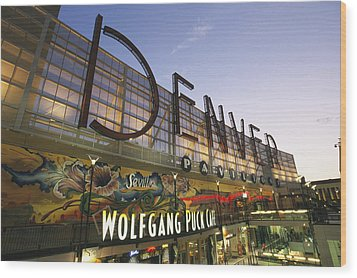 Twilight View Of The Denver Pavilions Wood Print by Richard Nowitz