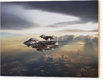 Wood Print featuring the digital art Twilight's Last Gleaming by Peter Chilelli