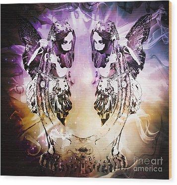 Twin Fairies 2 Wood Print