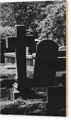 Twin Graves Wood Print