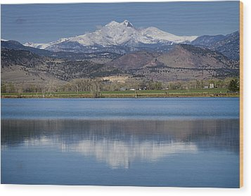 Twin Peaks Mccall Reservoir Reflection Wood Print by James BO  Insogna