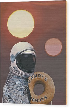 Twin Suns And Donuts Wood Print