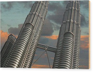 Twin Towers Wood Print by Debbie McIntyre
