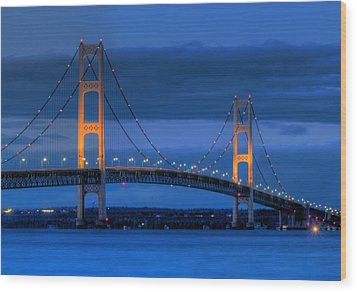 Twin Towers Of Northern Michigan Wood Print