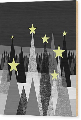 Twinkle Night Wood Print