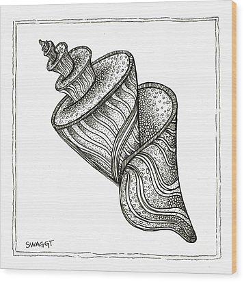 Twirly Shell Wood Print