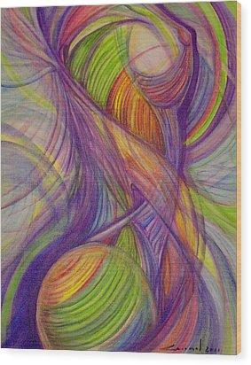 Twist Wood Print by Caroline Czelatko