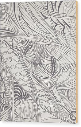 Twisted Dimensions Wood Print by Laurie Gibson