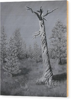 Wood Print featuring the painting Twisted by Nancy Jolley