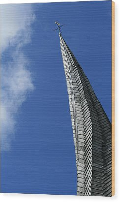 Twisted Spire Wood Print by Cathy Weaver