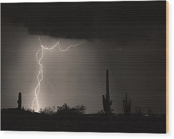 Twisted Storm - Sepia Print Wood Print by James BO  Insogna