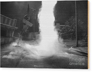 Twister In The Neighborhood Wood Print by David Lee Thompson