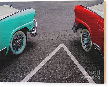 Wood Print featuring the photograph Two 1958 Ford Crown Victorias by M G Whittingham