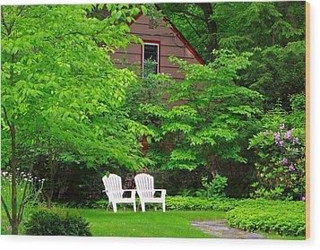 Two Adirondacks Wood Print by Don Nieman