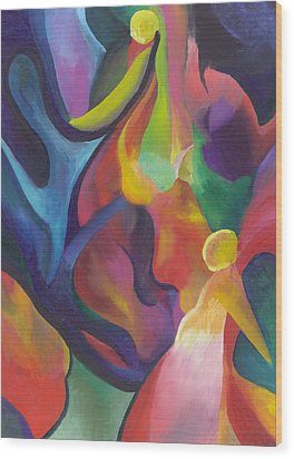 Two Angels Wood Print by Peter Shor