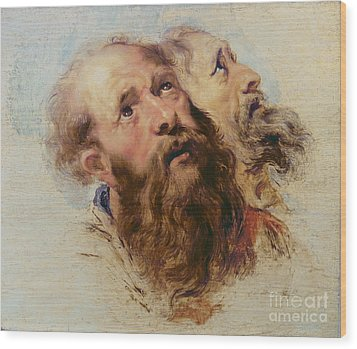 Two Apostles Wood Print by Rubens