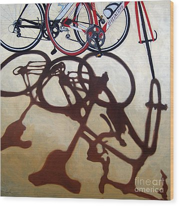 Two Bicycles Wood Print