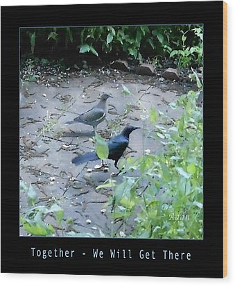 Wood Print featuring the photograph Two Birds Blue by Felipe Adan Lerma