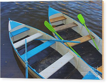 Two Boats Wood Print by Carlos Caetano