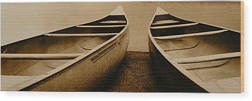 Two Canoes Wood Print by Jack Paolini