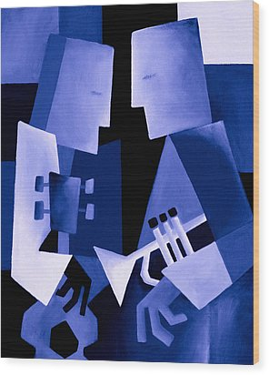 Two For The Blues Wood Print by Thomas Andersen