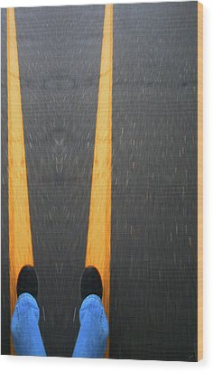 Two For The Road Wood Print by Karol Livote