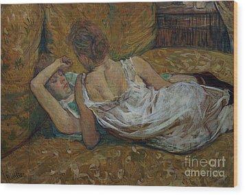Two Friends Wood Print by Henri de Toulouse-Lautrec