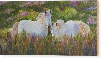 Two Friends Wood Print by Mary Jo Zorad