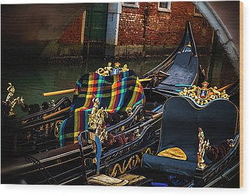 Wood Print featuring the photograph Two Gondolas by Andrew Soundarajan