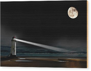 Two Guiding Lights Wood Print by Meirion Matthias