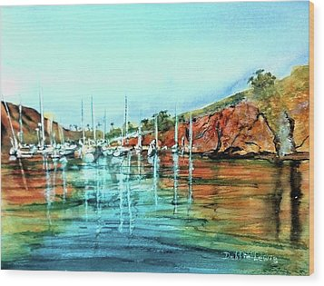 Two Harbors Catalina Morning Impressions Wood Print by Debbie Lewis