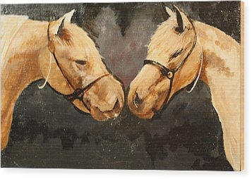 Two Horse Wood Print by Shannon Rains